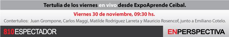 Tertulia de los viernes en vivo desde ExpoAprende Ceibal
